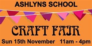 Sterling Are Delighted To Promote The Ashlyns School Craft Fair
