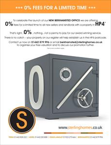 0% fee offer to promote the launch of our new Berkhamsted Office