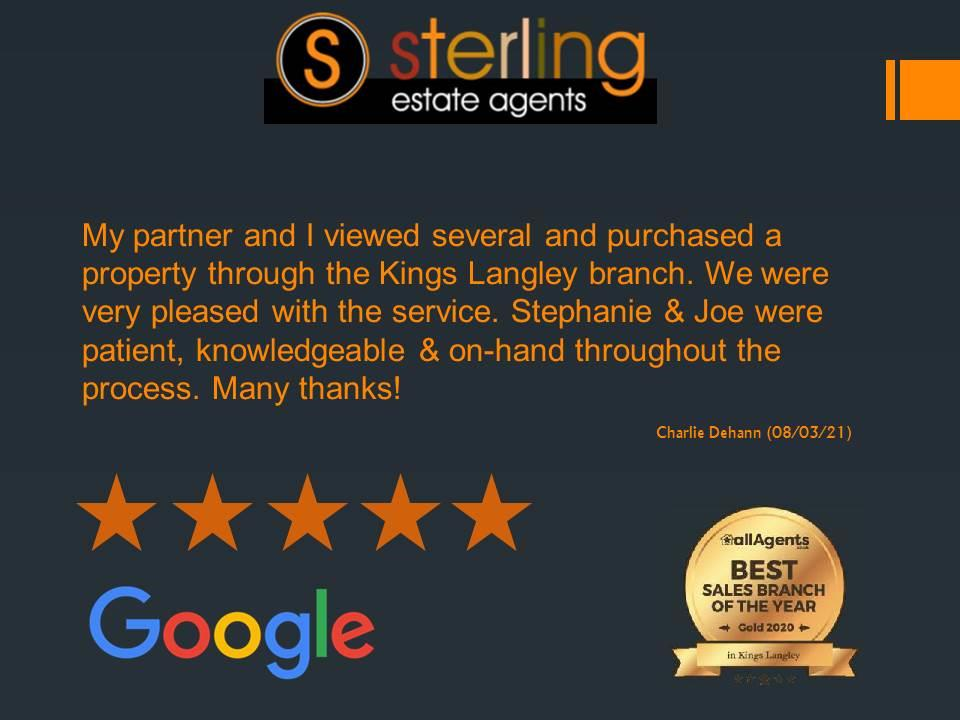 A lovely review for the team in Kings Langley